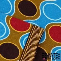 Wax Africain N°058 : Motif Rond Et Odulation