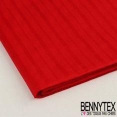 Coupon Popeline Coton à Rayures Couleur Rouge - QUALITE PREMIUM