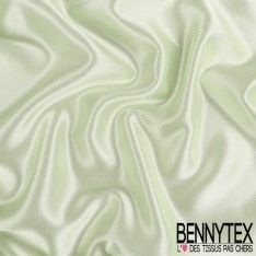 Coupon Satin Duchesse Polyester Haute Gamme Vert d'eau