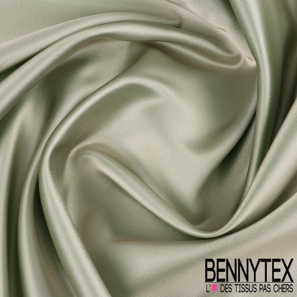 satin duchesse haute couture couleur vert de gris. Black Bedroom Furniture Sets. Home Design Ideas