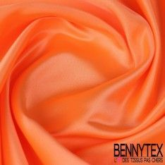 Satin Duchesse Haute Couture Couleur Orange