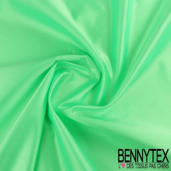 Satin Duchesse Haute Couture Couleur Vert Fluo