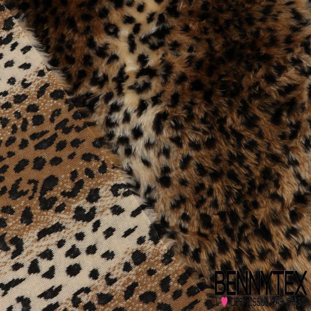 fausse fourrure motif l opard tie and die bennytex vente de tissus pas cher au m tre. Black Bedroom Furniture Sets. Home Design Ideas