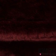 Fourrure Couleur Bordeaux Poils Ras Envers Suédine