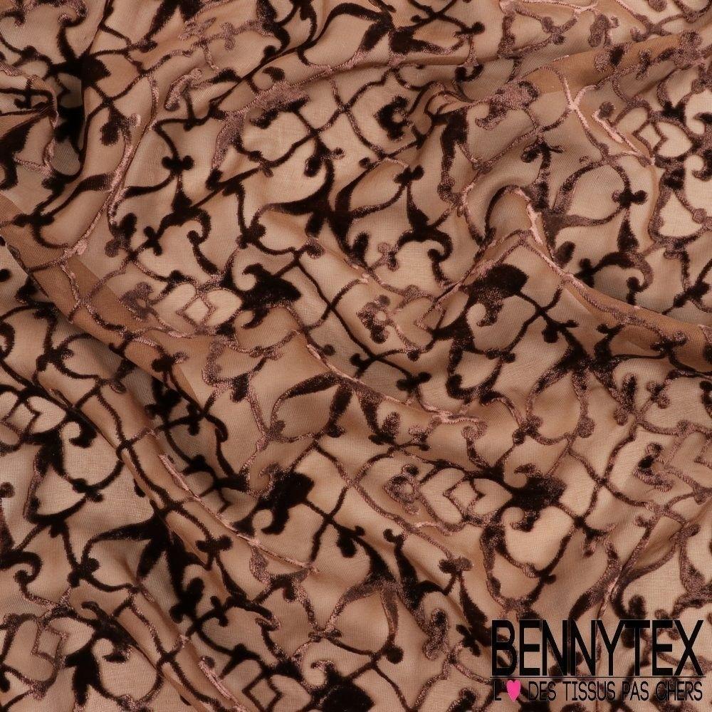 Velours mousseline de soie d vor fleurs arabesque for Velours de soie ameublement