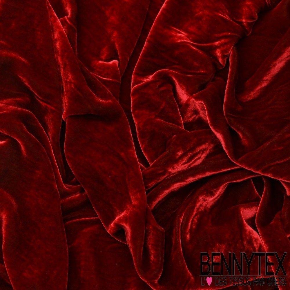 Velours de soie rouge vert bennytex vente de tissus pas for Velours de soie ameublement