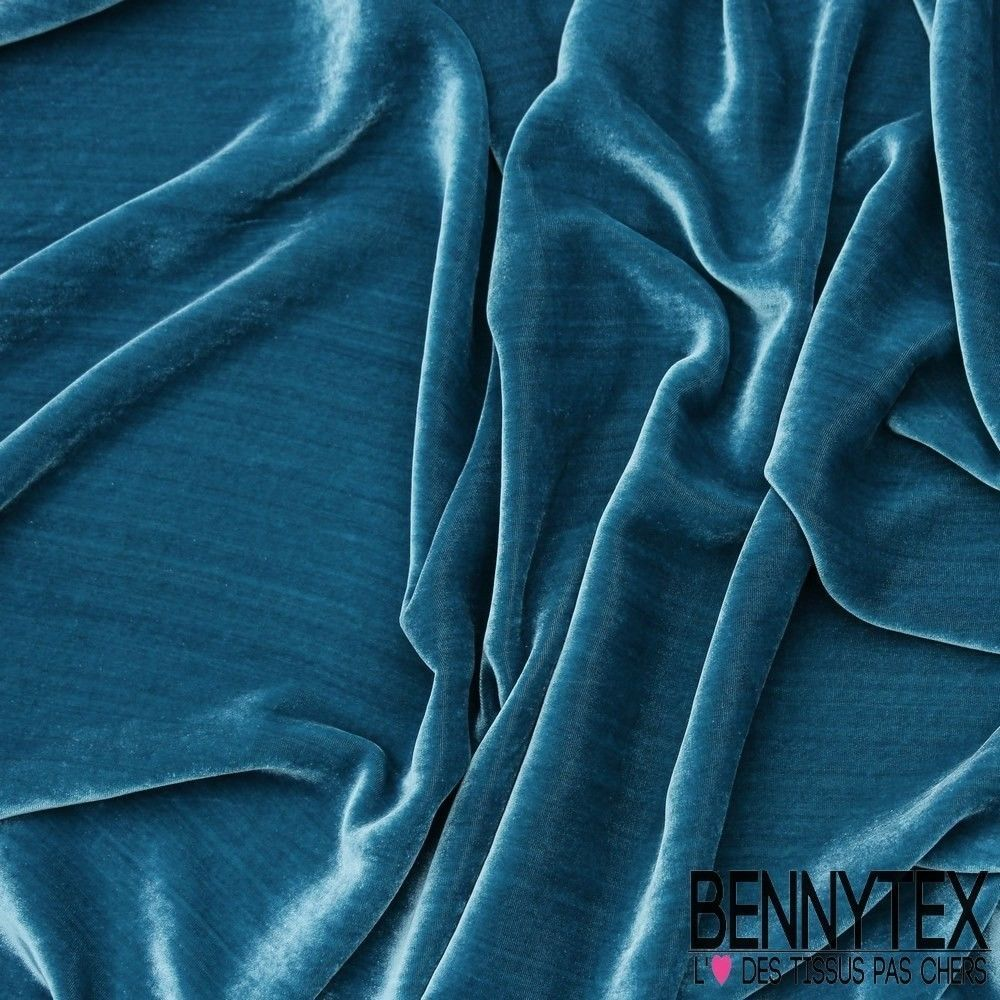 Velours de soie mer bennytex vente de tissus pas cher au for Velours de soie ameublement
