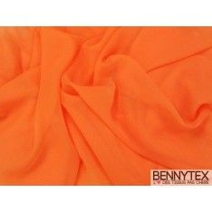 Mousseline Polyester Orange Carotte