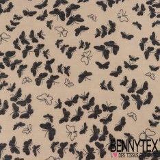 Jersey Viscose motif Papillons