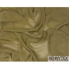 Mousseline Polyester Vert Olive