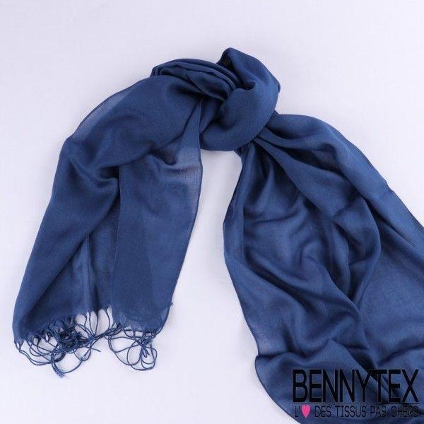 Echarpe Foulard Couleur Bleu Marine N°03 - 170x42 Cm