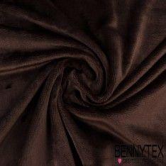 Tissu Peluche Double Face Chocolat