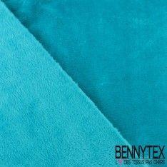 Peluche Double Face Bleu Turquoise