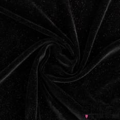 Velours de Soie Noir Pailleté Doré