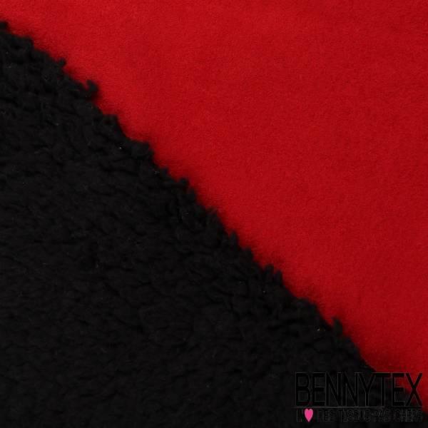 Laine Mouton Couleur Noir Envers Suédé Rouge