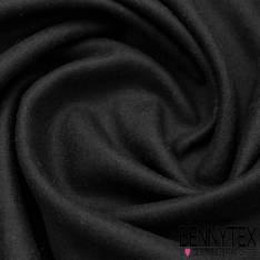Velours de LAINE noir effet cachemire