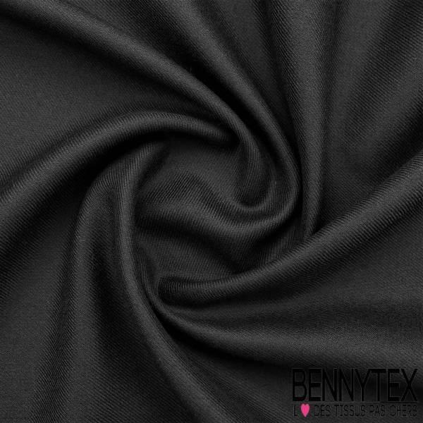 Gabardine de Laine Couleur Gris noir