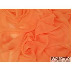 Mousseline Polyester Orange Vif
