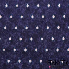 Fibranne Viscose a point rose genre etoile fond bleu noir
