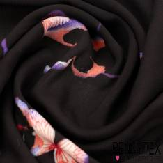Fibranne Viscose papillon a base fond noir