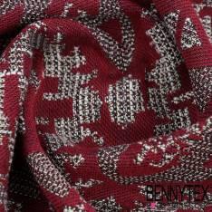 Brocart de coton tissé teint lurex or