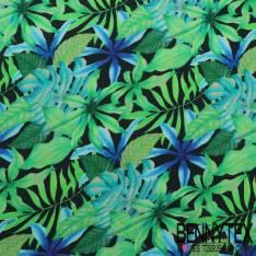 Crêpe Viscose Imprimé feuille tropical