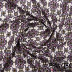 Fibranne Viscose imprimé fleurs design