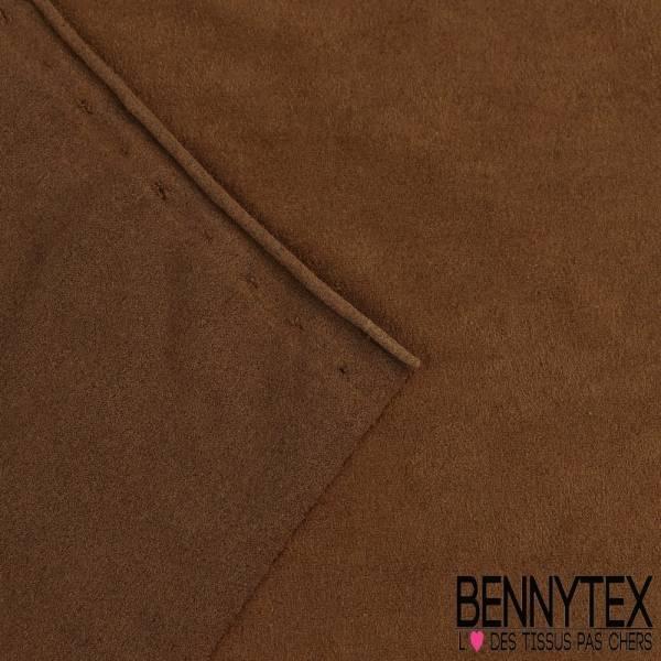 Jersey suedine polyester couleur alezan