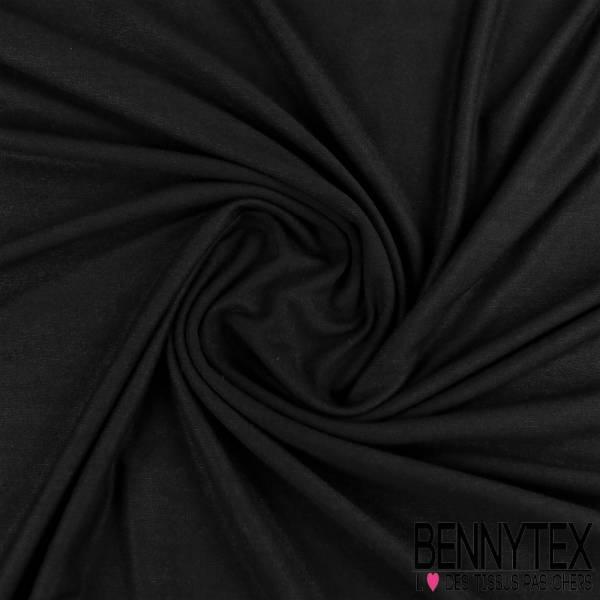Jersey Viscose modal Uni Couleur noir