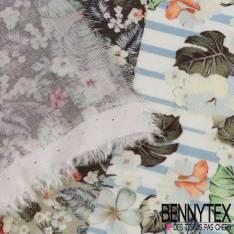 Fibranne Viscose imprimé fleurs patchwork