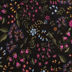 Fibranne Viscose imprimé fleurs