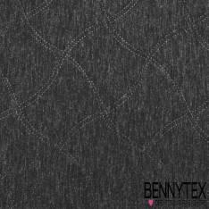 Néoprene scuba jersey matelassé couleur gris chiné foncé et noir