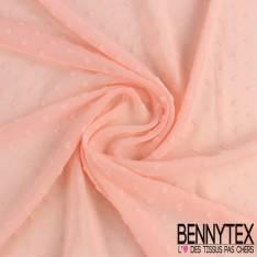 voile Georgette Polyester plumeti forme de fléche saumon clair