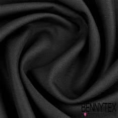 double Sergé Polyester viscose Lourde couleur noir