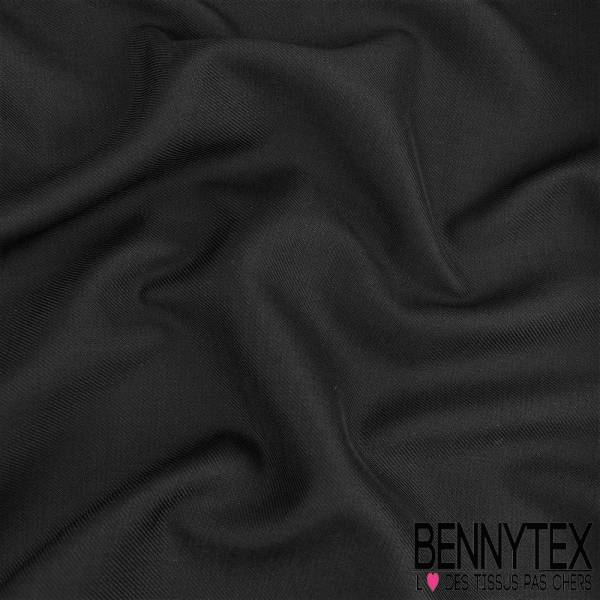 double gabardine Sergé Polyester viscose Lourde couleur noir