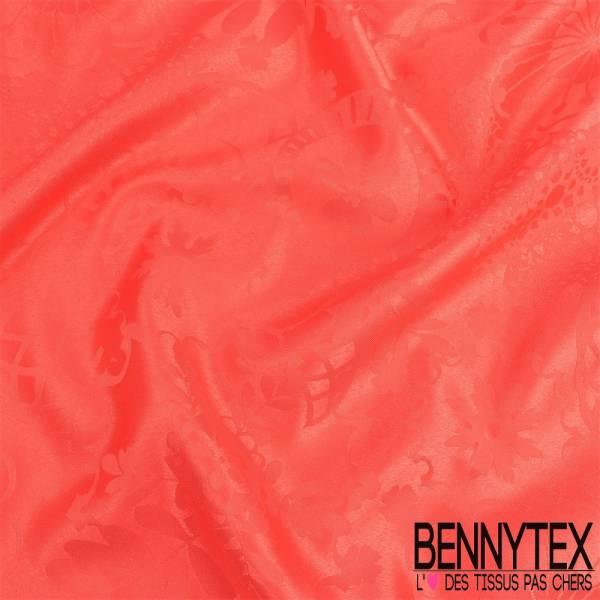 Polyester jacquard ton sur ton nappe couleurs corail