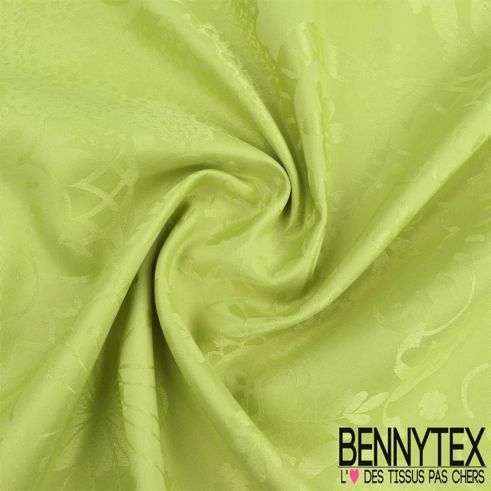 polyester jacquard ton sur ton a motif nappe couleur vert anis