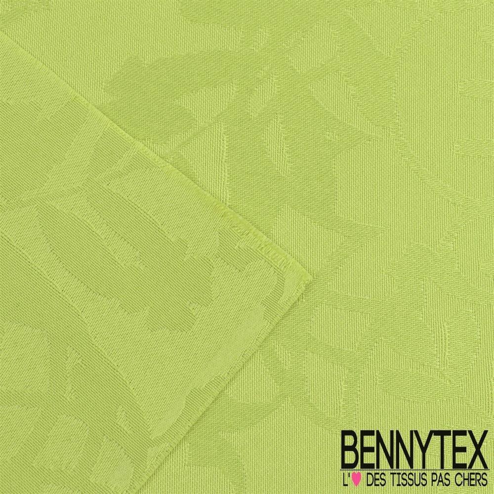 polyester jacquard ton sur ton a motif nappe couleur vert anis bennytex vente de tissus pas. Black Bedroom Furniture Sets. Home Design Ideas