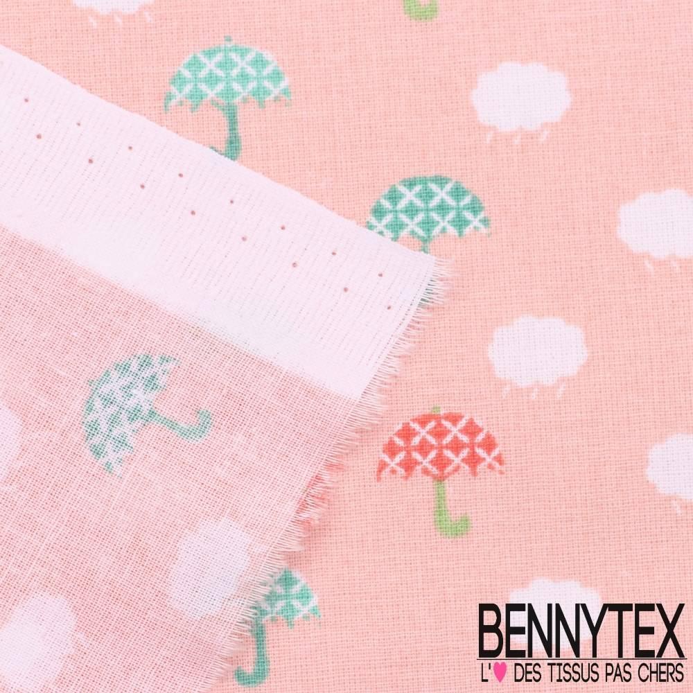 toile lorraine 100 coton imprim demoiselles fond rose saumon bennytex vente de tissus. Black Bedroom Furniture Sets. Home Design Ideas