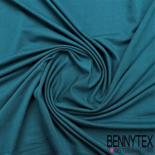 Jersey modale Viscose Uni couleur bleu canard