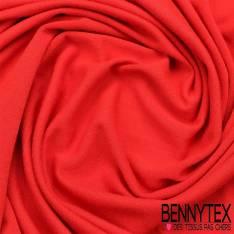 Jersey modale Viscose Uni couleur rouge vermillon