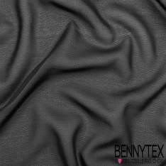 Mousseline Polyester Crêpé Gamme KENZA Couleur Noir