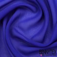 Mousseline Polyester Crêpé Gamme KENZA Couleur Bleu Roi