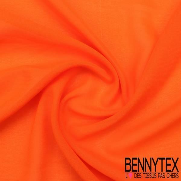 Mousseline Polyester Crêpé Gamme KENZA Couleur Orange