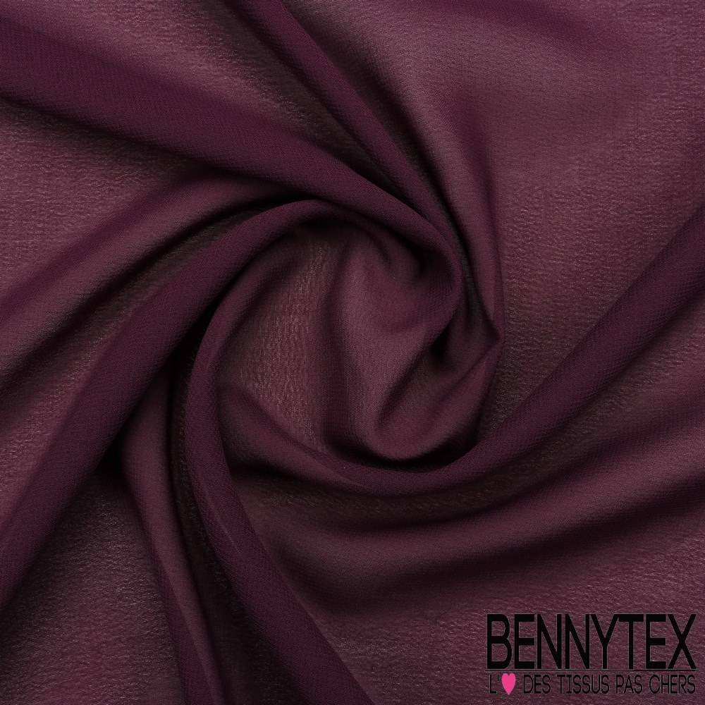 Mousseline Polyester Cr P Gamme Kenza Couleur Aubergine Bennytex