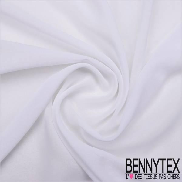 Mousseline Polyester Crêpé Gamme KENZA Couleur Blanche