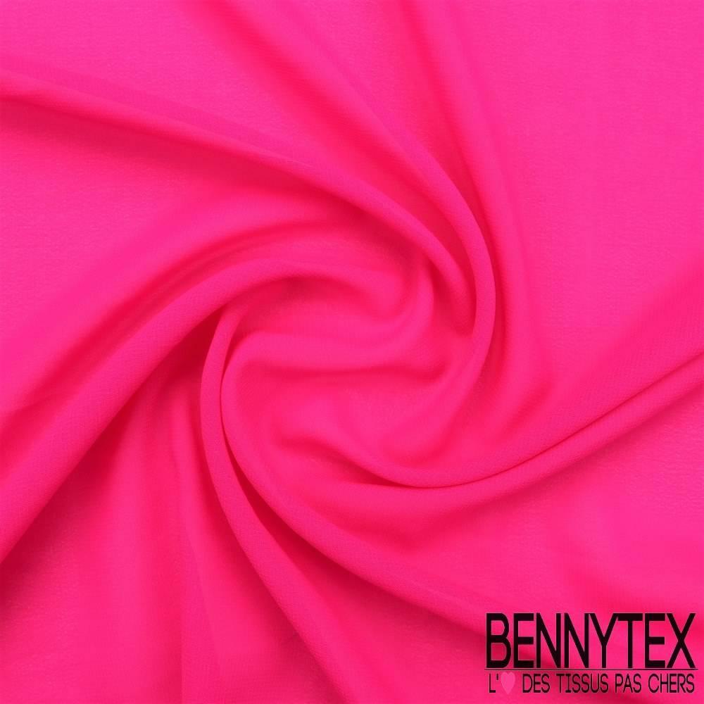mousseline polyester cr p gamme kenza couleur fushia bennytex vente de tissus pas cher au m tre. Black Bedroom Furniture Sets. Home Design Ideas