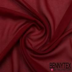 Mousseline Polyester Crêpé Gamme KENZA Couleur Bordeaux