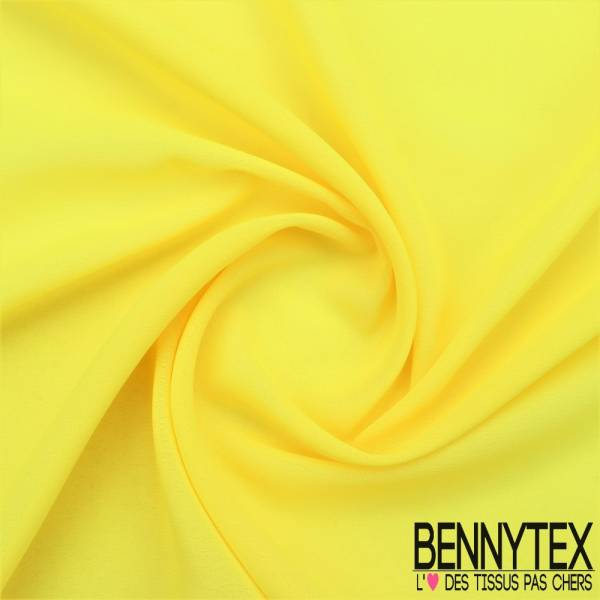 Mousseline Polyester Crêpé Gamme KENZA Couleur Jaune | Bennytex ...