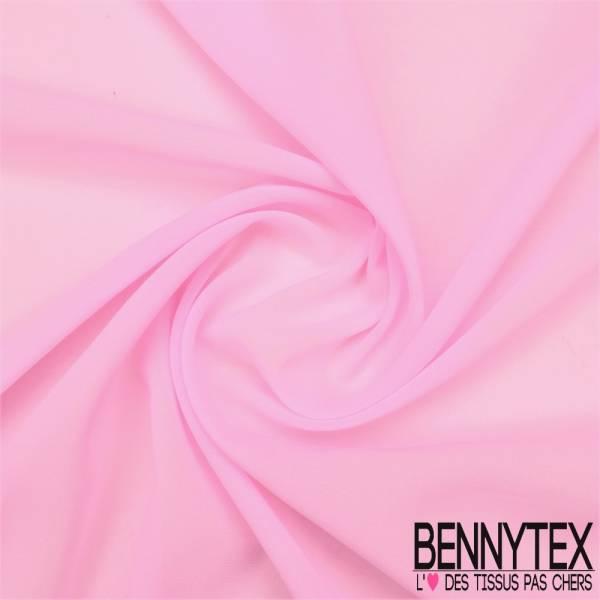 Mousseline Polyester Crêpé Gamme KENZA Couleur Rose